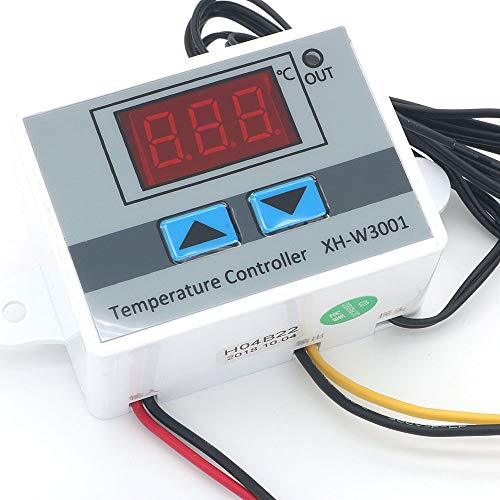 DollaTek XH-W3001 220V Termostato Regulador Térmico de Calidad Digital Termopar Termostato con Pantalla LCD