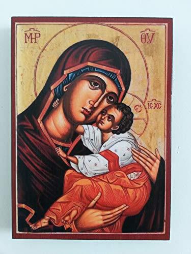 Artastate Ikone der Heiligen Maria, Mutter Jesu aus Holz, Orthodoxe Christliche Ikonographie