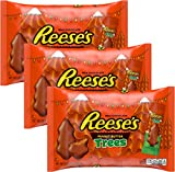 Reeses Christmas Milk Chocolate Peanut Butter Trees Individually Wrapped - Perfect For Winter Candy Dish, Holiday Treats, or Stocking Stuffer 10.8 oz (3 Pack) (Peanut Butter Trees)