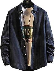 シャツ メンズ 長袖 カジュアル ビジネス オシャレ大きいサイズ シンプル ボタンダウン 春秋冬