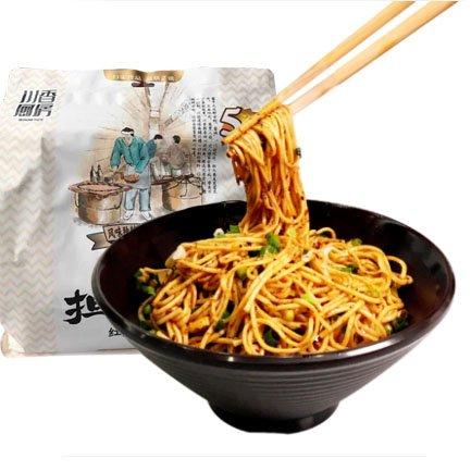 四川担担麺 紅油味 乾拌麺 中華麺 中華食材・中華物産 5食入り