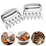 2 Pcs/Set Stainless Steel Meat Claw Barbecue Fork Food Dividing Machine Meat Tearing