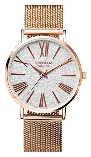 Orphelia Damen Analog Quarz Uhr mit Edelstahl Armband OF714828