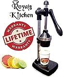 Freshforce Aluminium Hand Press Citrus Fruit Juicer (Black)