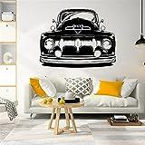 Pegatinas de pared con patrón de coche Vintage,arte para el hogar,sala de estar,decoración moderna,pegatinas de pared de moda,calcomanía A2 42x54 cm