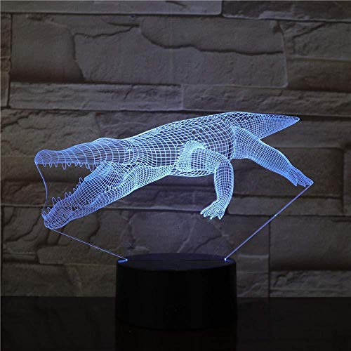 YOUPING 3D Illusion lamp led Night Light Crocodile Color Changes with Battery Operated Hologram with Fast delivery