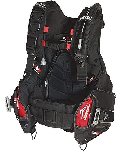 SEAC Pro 2000 BCD Buoyancy Compensator, Large, Black