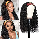 BLISSHAIR Peluca de cabello humano Rizado Cabello remy virgen brasileño Water wave Headband Short Wig Lace Front 16 pulgadas