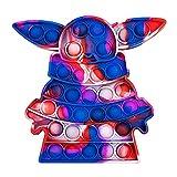 Push Pop Bubble Fidget Sensory Toy Square Stress Relief, Sensory Fidget Toys Set for Kids Adults (Cartoon #06, 1PC)