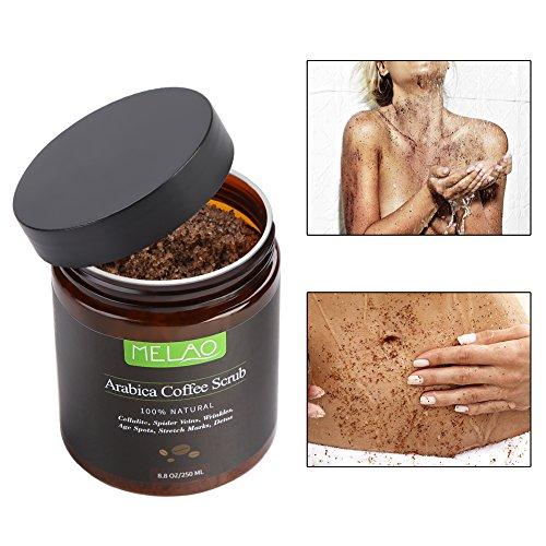 250 g de exfoliante de café exfoliante corporal 100% natural hidratante reduce la piel muerta