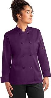 Women's Basic Long Sleeve Chef Coat (S-3X, 3 Colors)