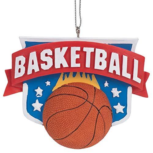Kurt Adler A1984 Basketball Hanging Ornament, 2-inch Length, Resin