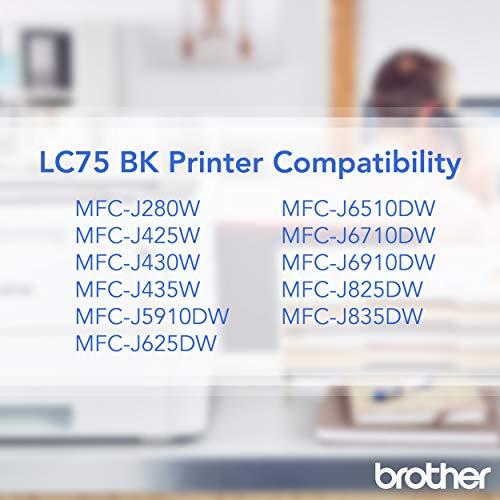 Brother Innobella - Cartucho de tinta negro para impresoras (Negro, MFC-J6510DW, MFC-J6710DW, MFC-J6910DW, alto rendimiento (XL), inyección de tinta)