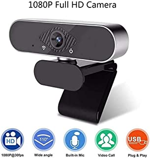 1080P Webcam, USB Mini PC Computer Webcam Built-in Microphone, 110-Degree Extended View, Suitable for Video Conferencing, ...