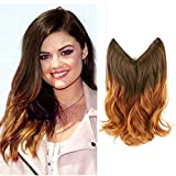 Creamily Hair Extension, 14' Wavy Curly Brown...