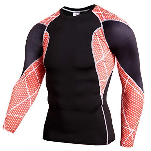 Celucke Langarm Funktionsshirt Herren Kompression Sport Funktionsunterwäsche Sportunterwäsche, Unterhemden Männer Laufshirt Compression Shirt Kompressionsshirt