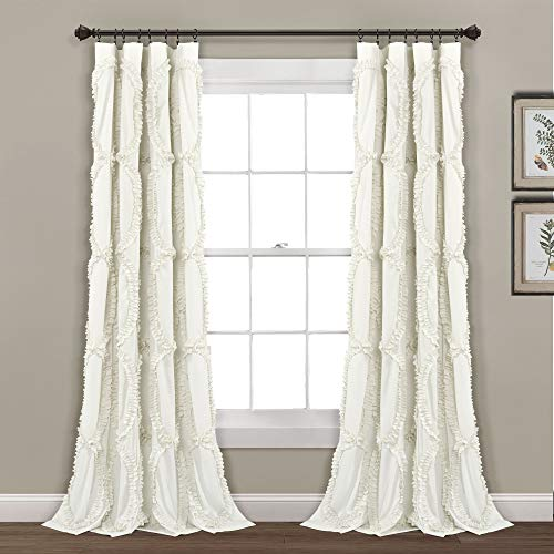 "Lush Decor Avon Window Curtain, Ivory, 54"" W x 84"" L"