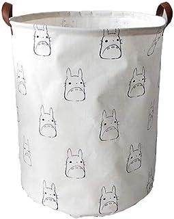 Totoro Pliable Toile Panier À Linge For Livre, Vêtements Pliable Cubes Boîte De Rangement, Grand Panier Panier À Linge (Co...