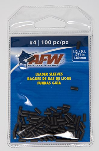 AFW American Fishing Wire Single Barrel Copper Crimp Sleeves Leader Size 4 100pc