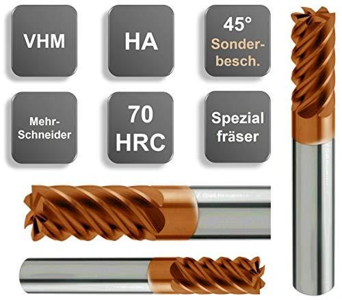Stehle VHM - Fresa a codolo speciale con rivestimento Sonde HRC, 2-20 mm