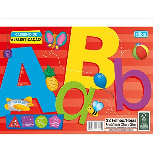 Tilibra Académie - Caderno de Alfabetização, 275x208mm, 32 Folhas, Multicolorido