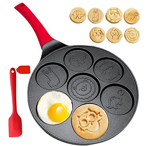 Pancake Molds for Kids- Pancake Pan Mold Pancake Maker Non-stick Pancake Griddle Grill Pan Mini Crepe Maker