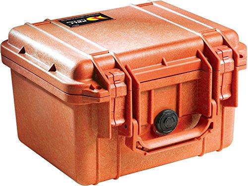 PELI 1300 Maletín técnico para la protección de Herramientas, Sistemas ópticos y fotográficos, IP67 estanco e Impermeable al Polvo, 6L de Capacidad, Fabricado en EE.UU, sin Espuma, Color Naranja