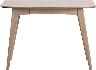 Selsey PECARA - Bureau design / Bureau industriel - 105 cm - chêne blanchi - avec tiroir - minimaliste