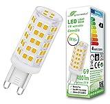 Bombilla LED regulable greenandco IRC 95+ G9 4W (corresponde a 35W) 400lm 3000K (blanco cálido) 320° 230V AC, sin parpadeo