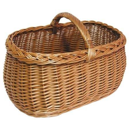 Spetebo Weidenkorb mit Tragebügel (45 x 21 x 30 cm) - handlicher Einkaufskorb aus Weide