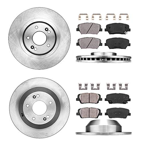 Callahan CRK02262 FRONT 320mm + REAR 305mm Premium OE 5 Lug Brake Rotors + Ceramic Pads + Hardware [ fit Kia Sorento ]