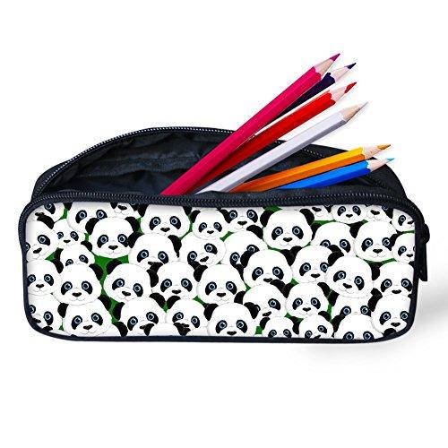 Hugs Idée Panda Mignon Trousse à crayons Sac de stylo Sac de papeterie pour enfants étudiant 8.66x1.77x4.33 inches Panda2
