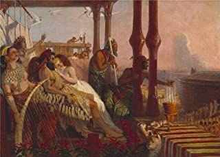 Oil painting 'William Bell Scott - The Eve of the Deluge,1865' printing on high quality polyster Canvas , 8x11 inch / 20x28 cm ,the best Kitchen decoration and Home gallery art and Gifts is this High Resolution Art Decorative Prints on Canvas