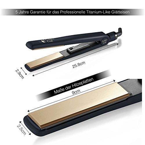Golden Curl Glätteisen GL829 Gold - 3