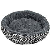 Snner chongwudian-7 Round Pad Pet Cushion, Gris, 4010cm