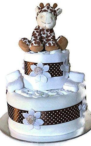 Pañal unisex para recién nacido, para bebé, niña, jirafa, para tarta de baby shower, regalo para mamá