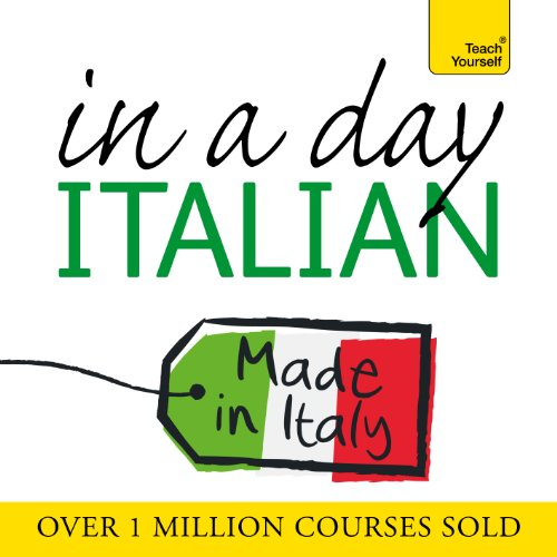 Italian in a Day                   By:                                                                                                                                 Elisabeth Smith                               Narrated by:                                                                                                                                 Elisabeth Smith                      Length: 1 hr and 10 mins     Not rated yet     Overall 0.0