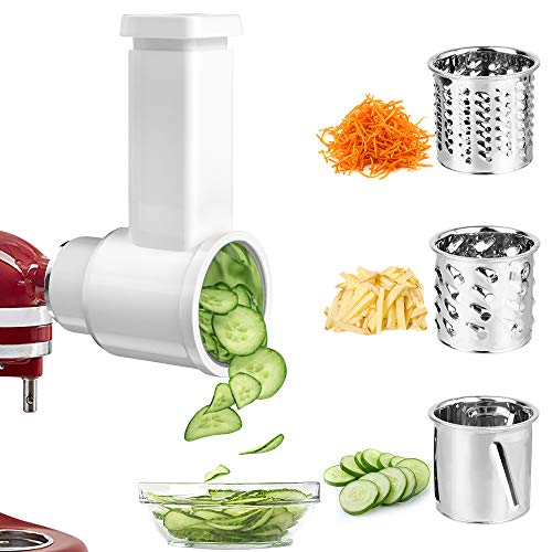 Slicer/Shredder Attachments for KitchenAid Stand Mixer, GEEKHOM Cheese Grater Attachment, Vegetable Chopper Attachment Salad Maker