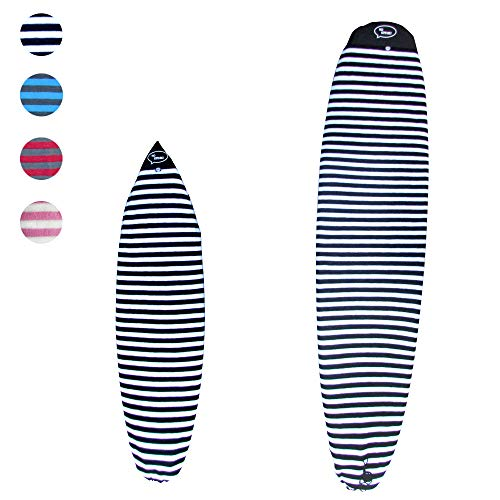 Ho Stevie! Surfboard Sock Cover - Light Protective Bag for Your Surf Board (Black and White, 6'6