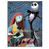 Ghychk The Nightmare Before Christmas Art Prints Modern Abstract, pintura abstracta para sala de estar, dormitorio, decoración del hogar, sin marco, 40,6 x 60,9 cm