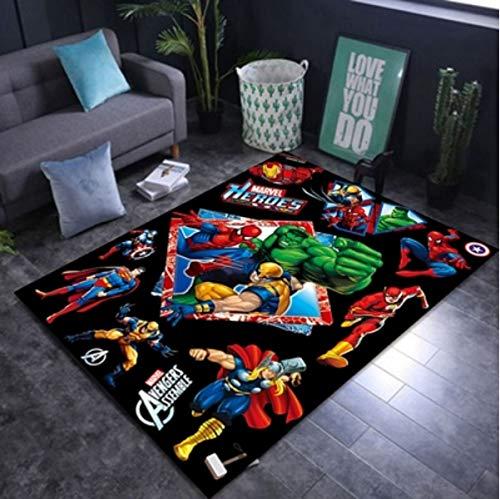 Alfombra Dormitorio Sala De Estar Vengadores Antideslizantes Hulk Superman Spider-Man Personalidad Alfombra Decorativa Habitación Para Niños Alfombra Insonorizada Y A Prueba De Humedad 90 * 150 Cm