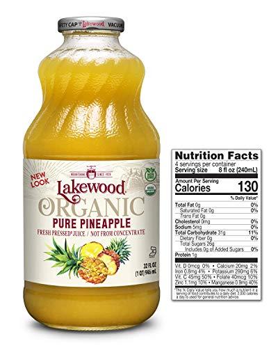 Lakewood Pure Pineapple, Fresh Pressed, 32 Fl Oz (Pack of 6)
