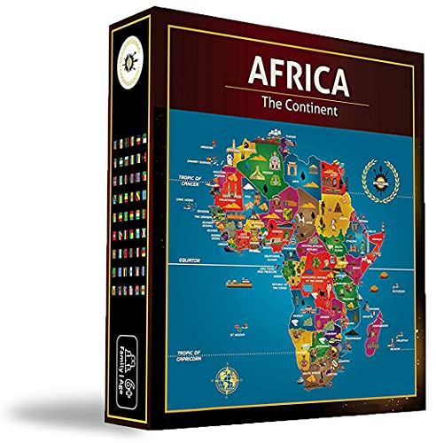 Africa Jigsaw Puzzle - Map of Africa - Black History - Board Games - Jigsaw Puzzles - 100 Piece Puzzles - Continent Puzzle - Geography Puzzle - South Africa | Egypt | Nigeria | Ethiopia | Kenya