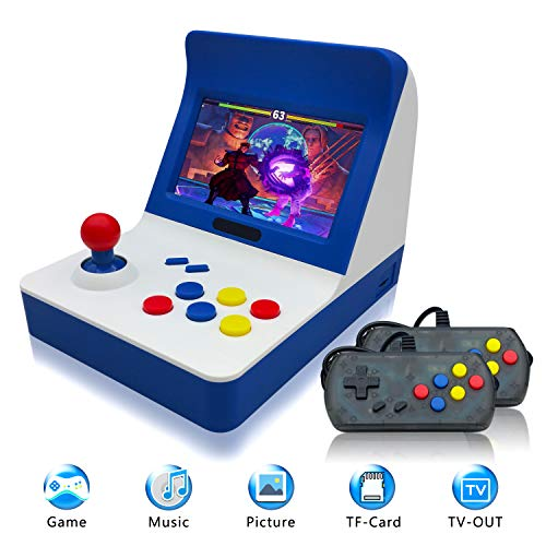 "Retro Game Console,Classic Retro Video Game Player Portable Game Console 16GB 4.3"" Full View TFT Screen 3000 Classic Games (Blue)"