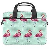 TIZORAX Laptop-Tasche, nahtlos, Flamingo-Tapete, Notebook-Tasche mit Griff, 38,1 - 39,1 cm, Schultertasche, Aktentasche