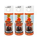 Pintura Spray Alta Temperatura Blanco 400 Ml - Pack de 3 Unidades