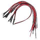 50PCS Ultra brillante 12v 3MM Luz de diodos LED con cable - Rosa 20CM/7.9in 26AWG Wire