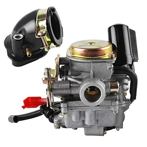 18mm Roller Vergaser und Ansaugstutzen für Rex RS 400/RS 450/RS 460/GY6 50cc/GY6 60cc