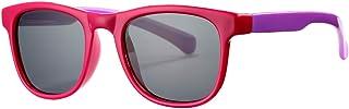 نظارات شمسية للأطفال للبنات والأولاد من سن 3-10، عدسات مطاطية مرنة من مادة TPEE للحماية من الأشعة فوق البنفسجية بنسبة 100%