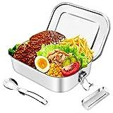 HB life Brotdose aus Edelstahl Lunchbox Bento Box Metall Dichte Brotdose Lunchbox (Patent...